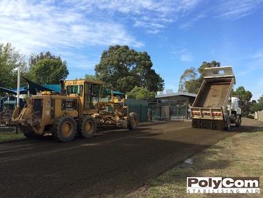 PolyCom soil stabilising car park