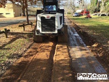 PolyCom soil stabilising footpath