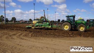 PolyCom soil stabilising hockey field