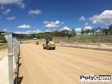 PolyCom soil stabilising poultry farm