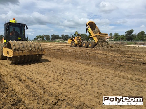 PolyCom soil stabilising sub division