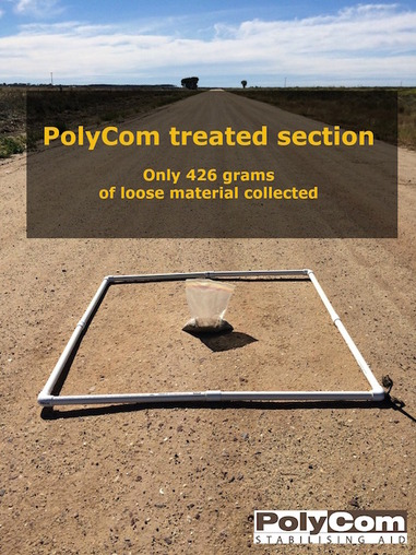 PolyCom treated section