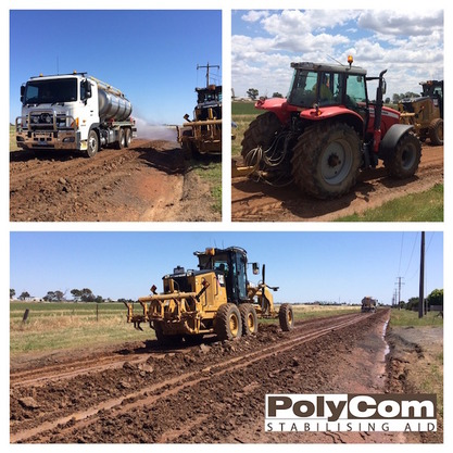 PolyCom stabilising reduces lost materials