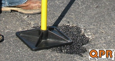 QPR pothole repair compaction